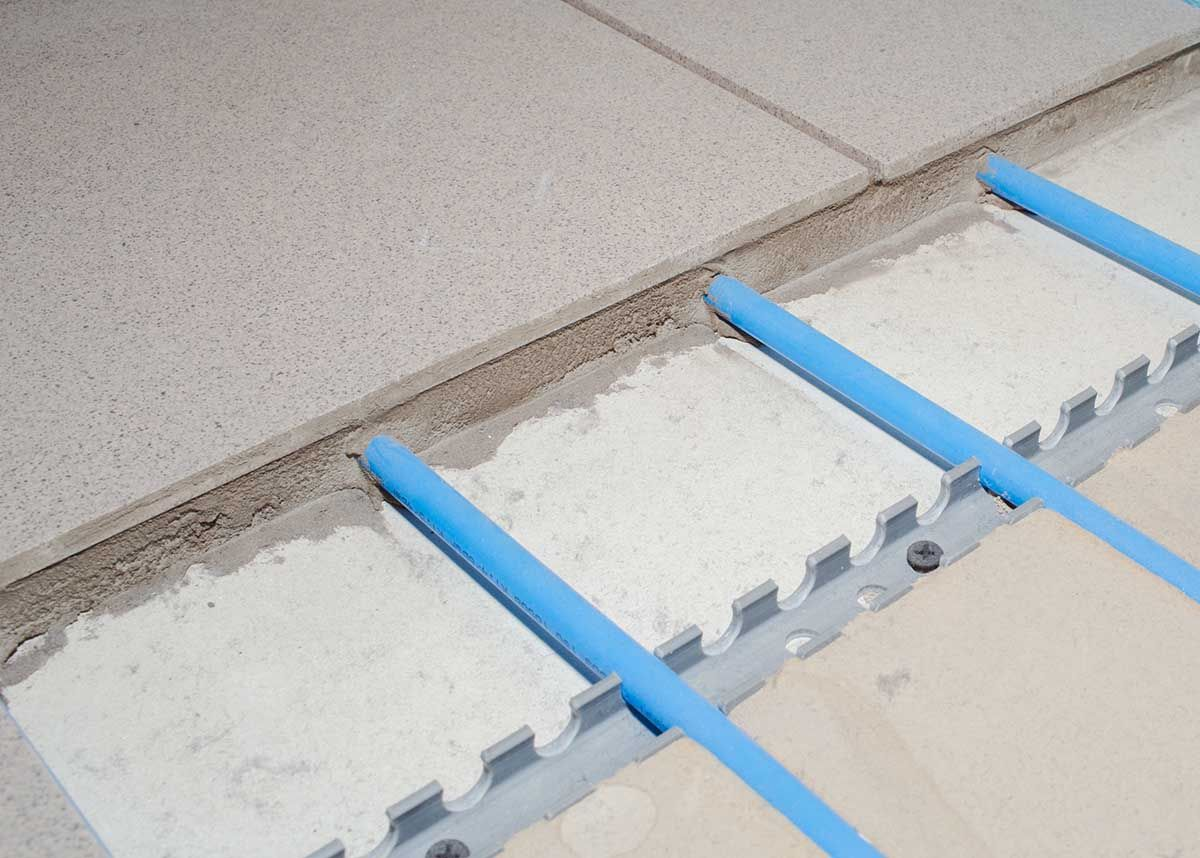 Commissioning of the underfloor heating system